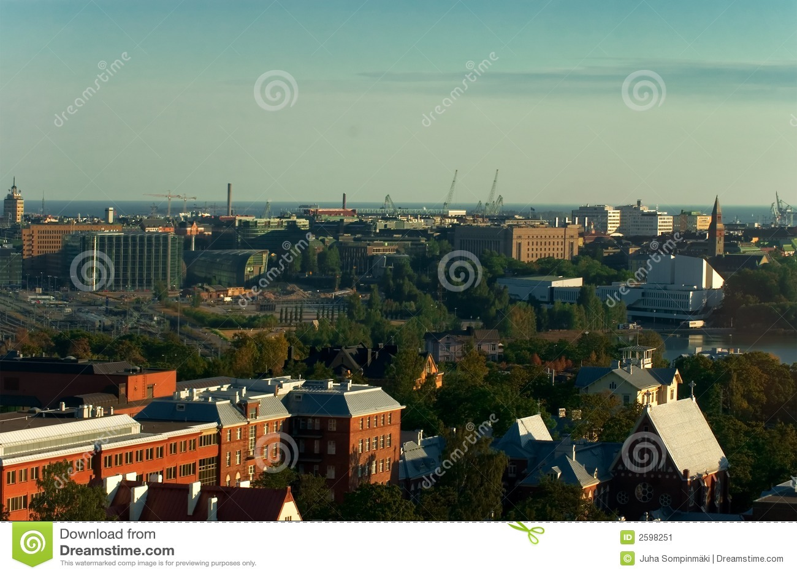 Het panorama van Helsinki