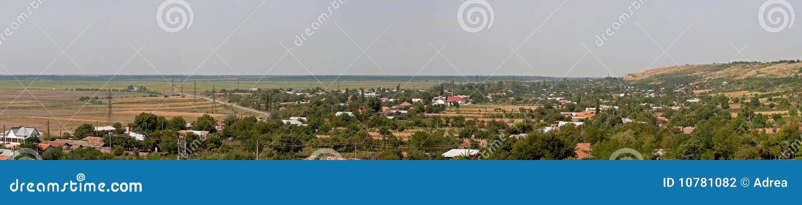 Het panorama van het dorp