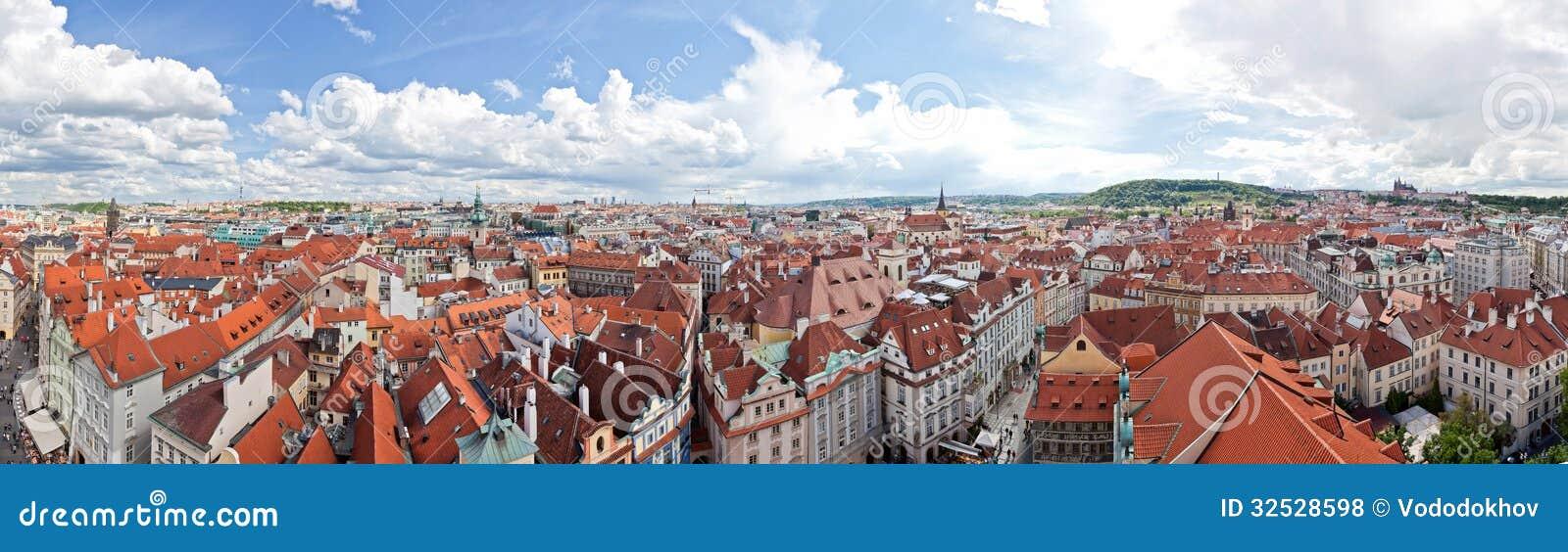 Het panorama van Praag