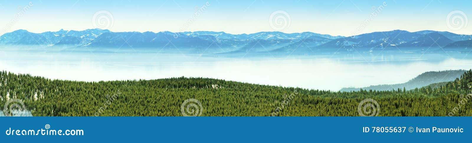 Het panorama van Tahoe van het meer