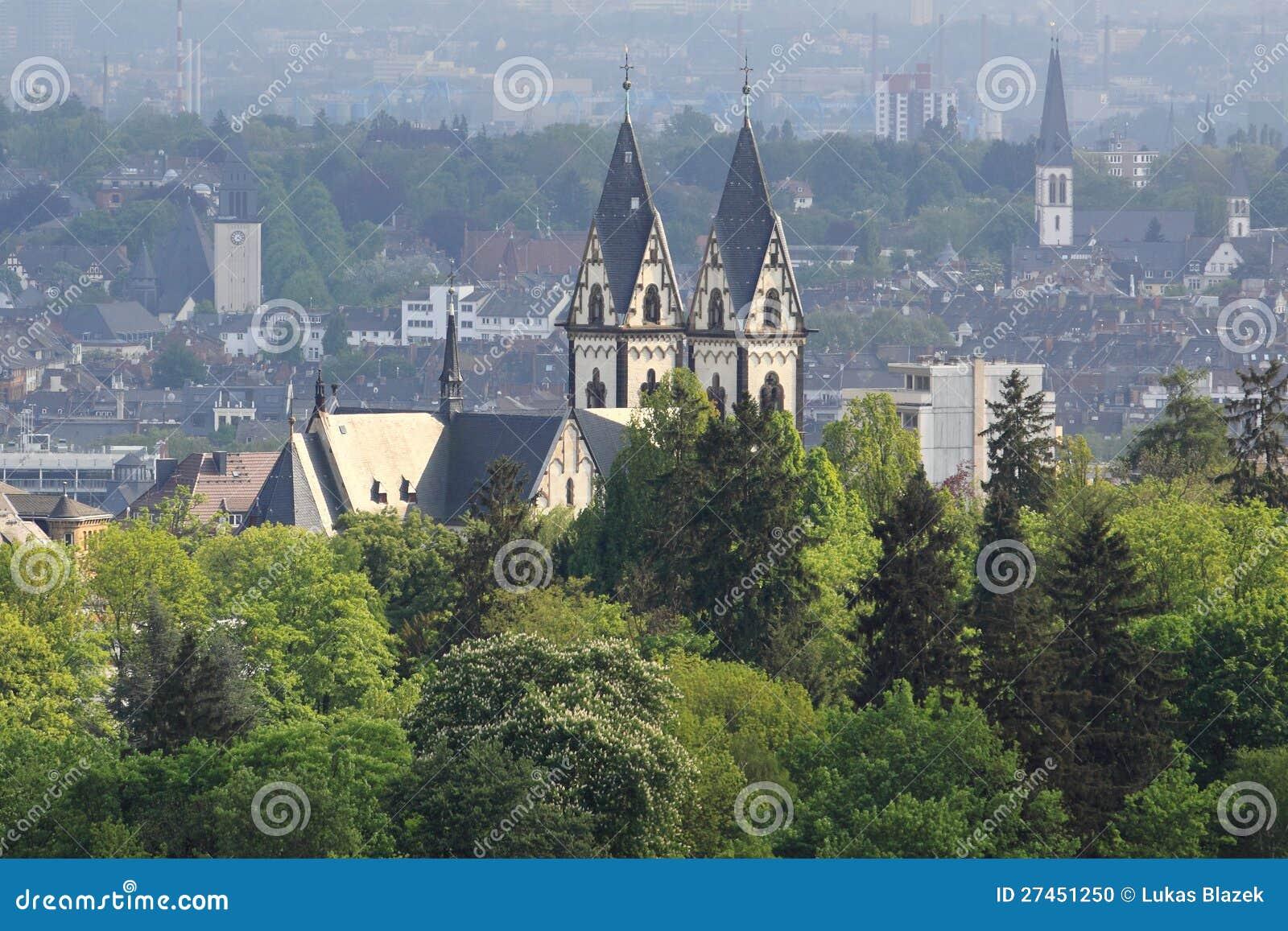 Het panorama van Wiesbaden