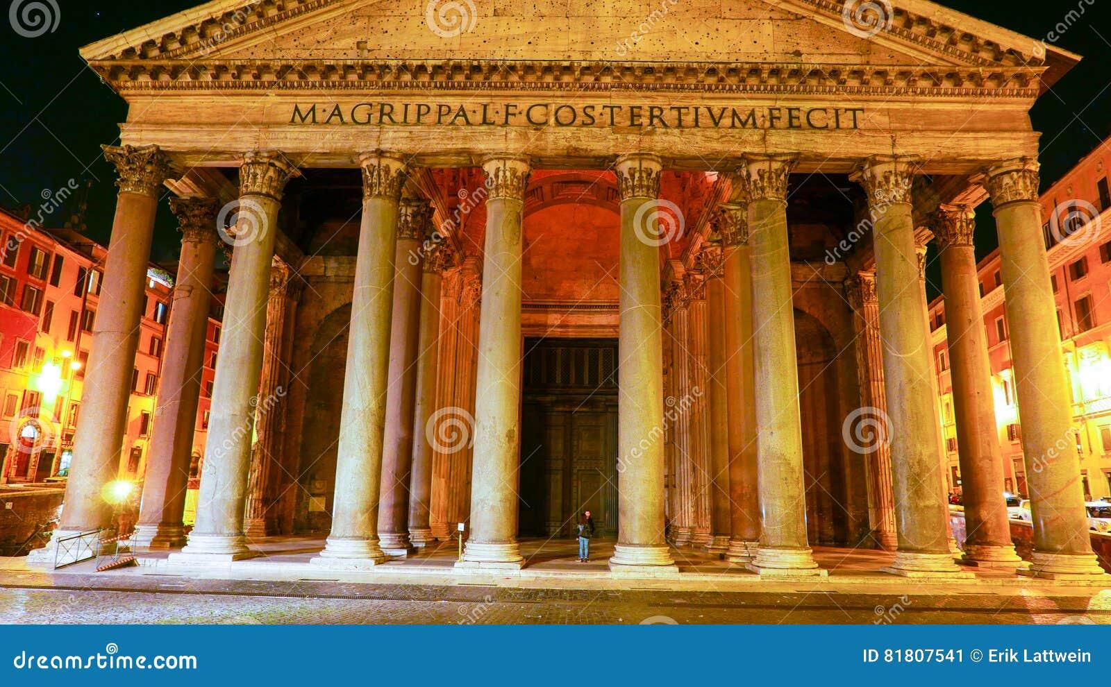 Het Pantheon in Rome - beroemd oriëntatiepunt in het historische district