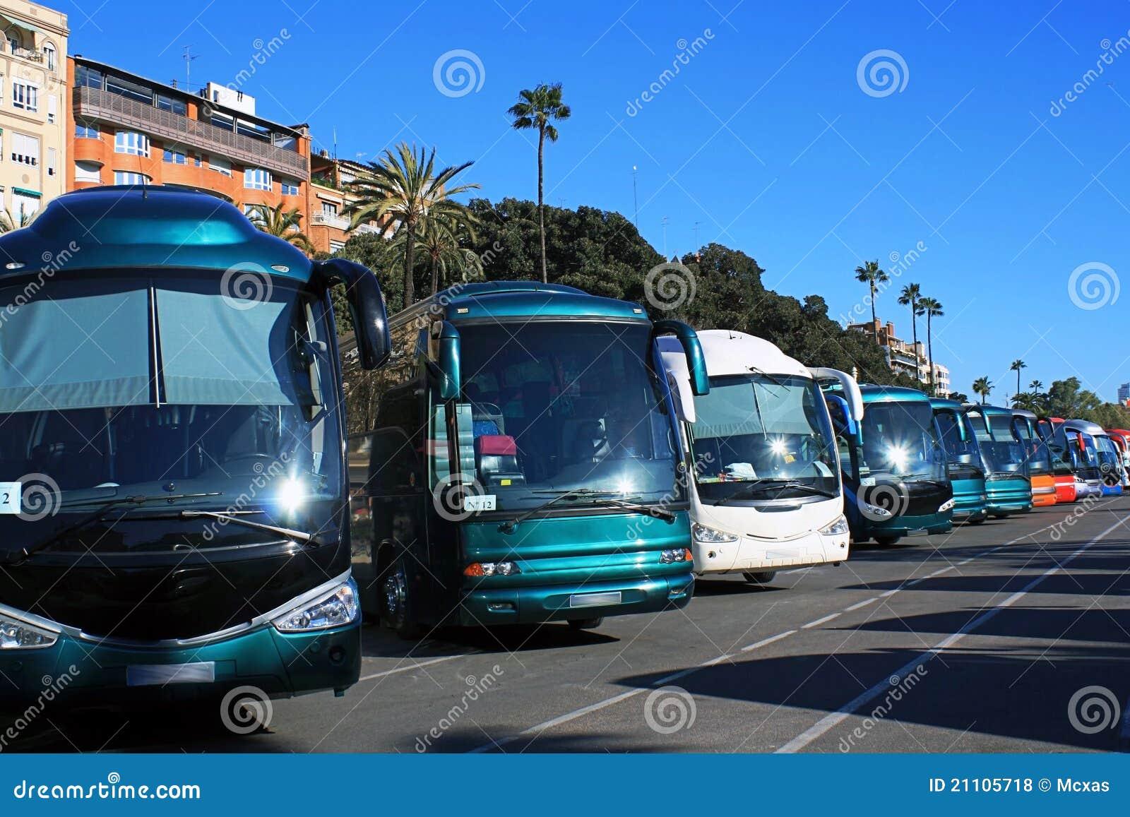 Het parkeren van bussen
