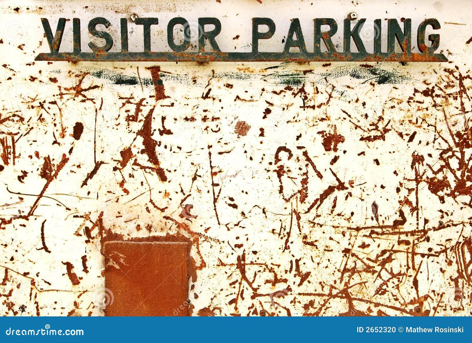 Het parkerenteken van de bezoeker