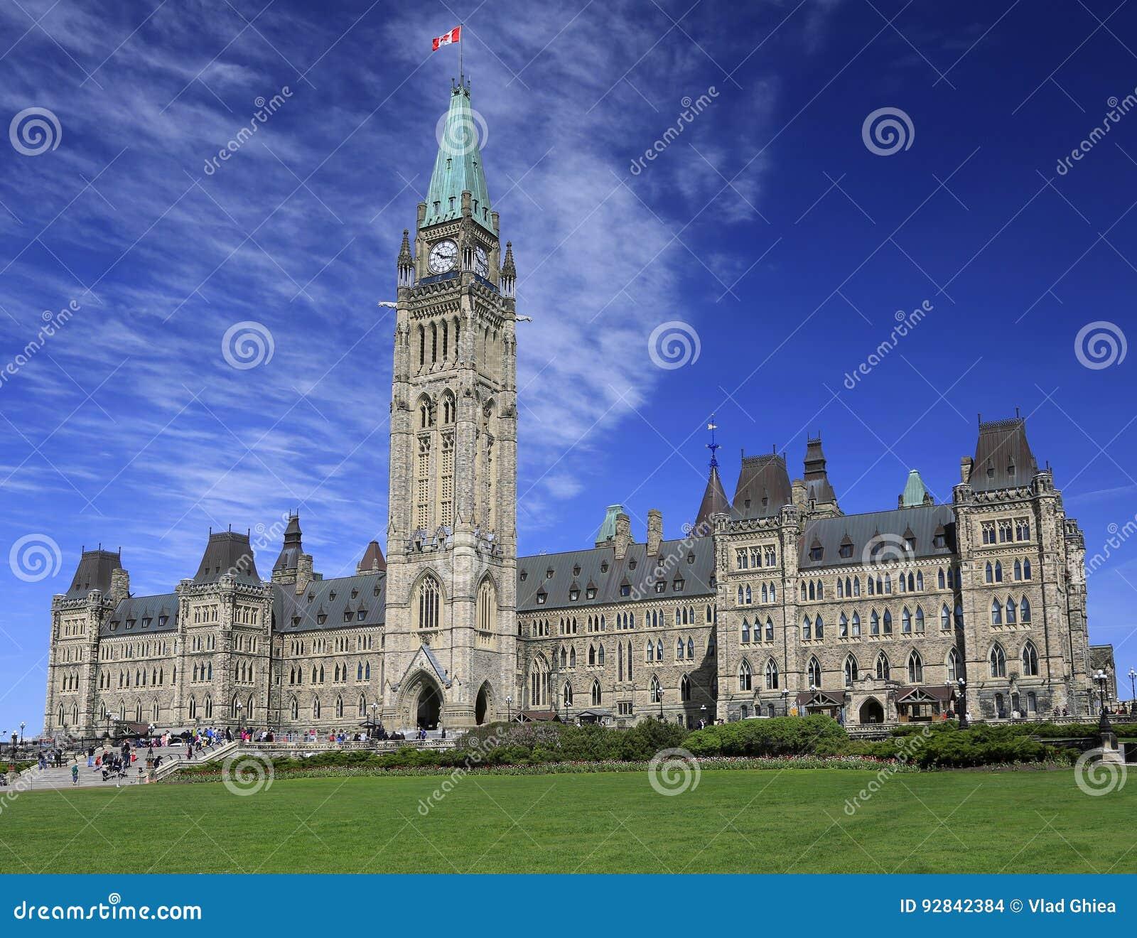Het Parlement van Canada in de Lente