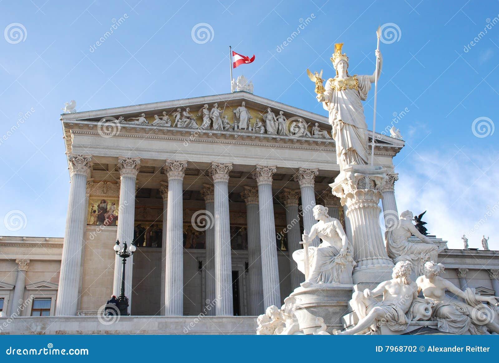 Het parlement van wenen stock fotografie afbeelding 7968702 - Het upgraden van m ...