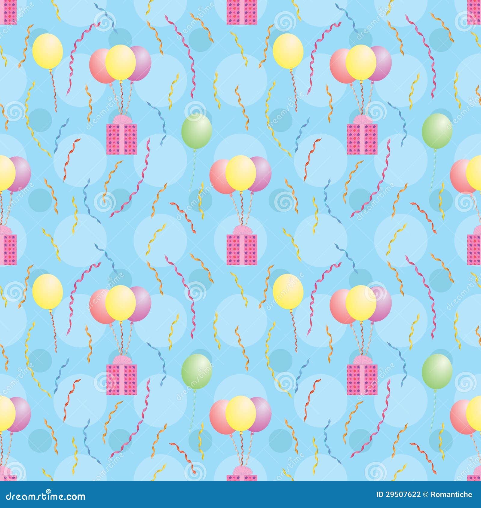 Het patroon met ballons het dragen stelt voor