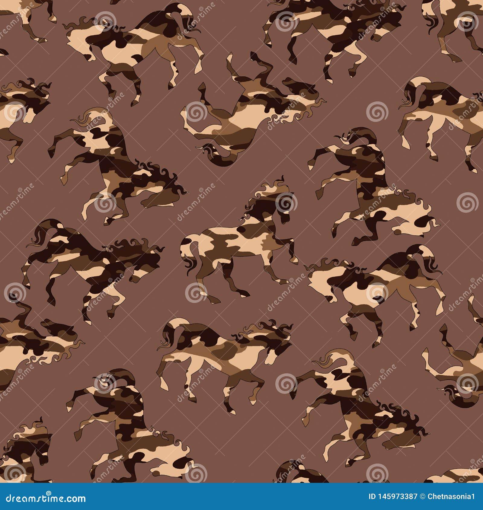 Het patroon van het camouflagepaard