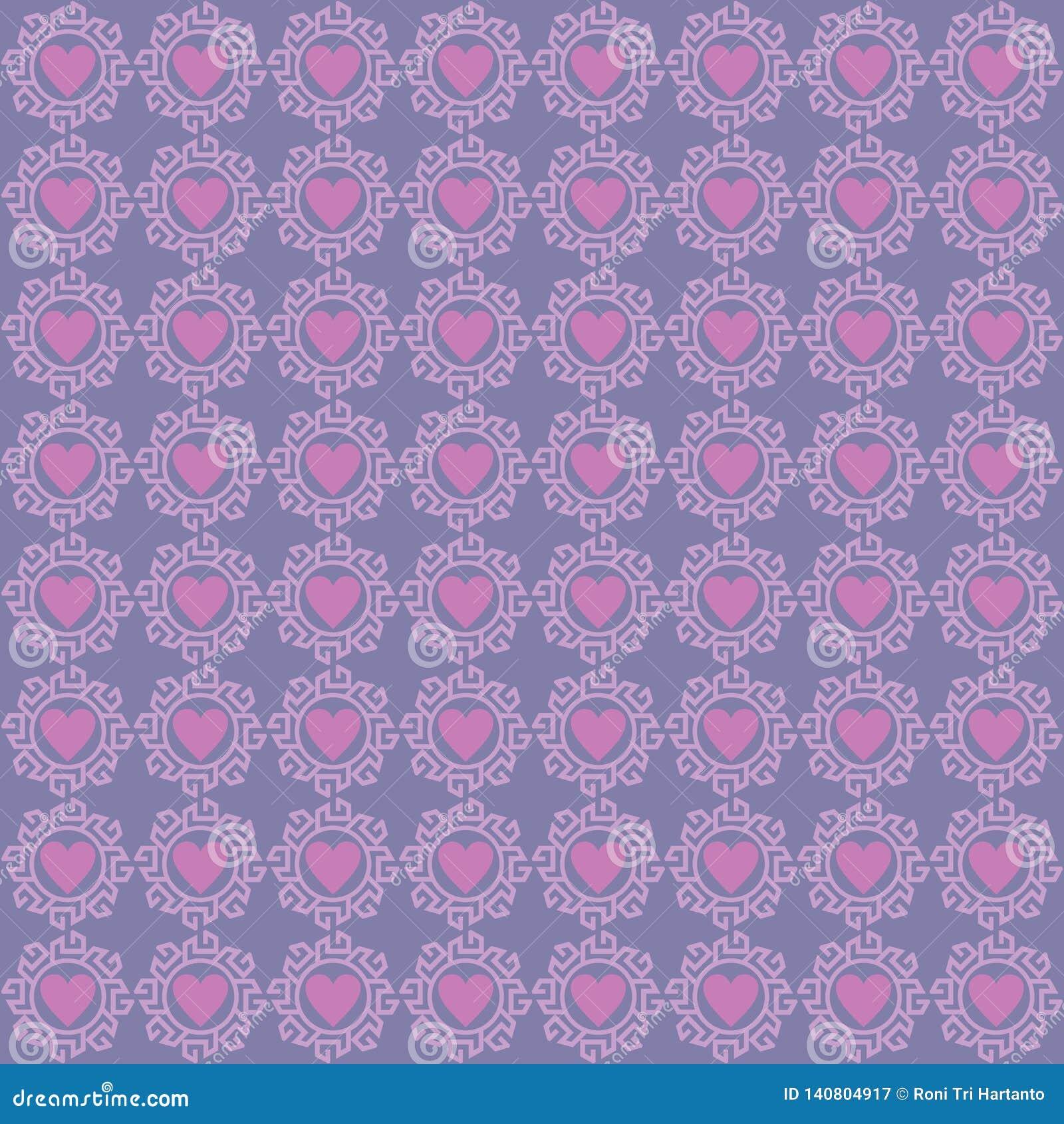 Het Patroon van de achtergrond ornamentliefde Purple