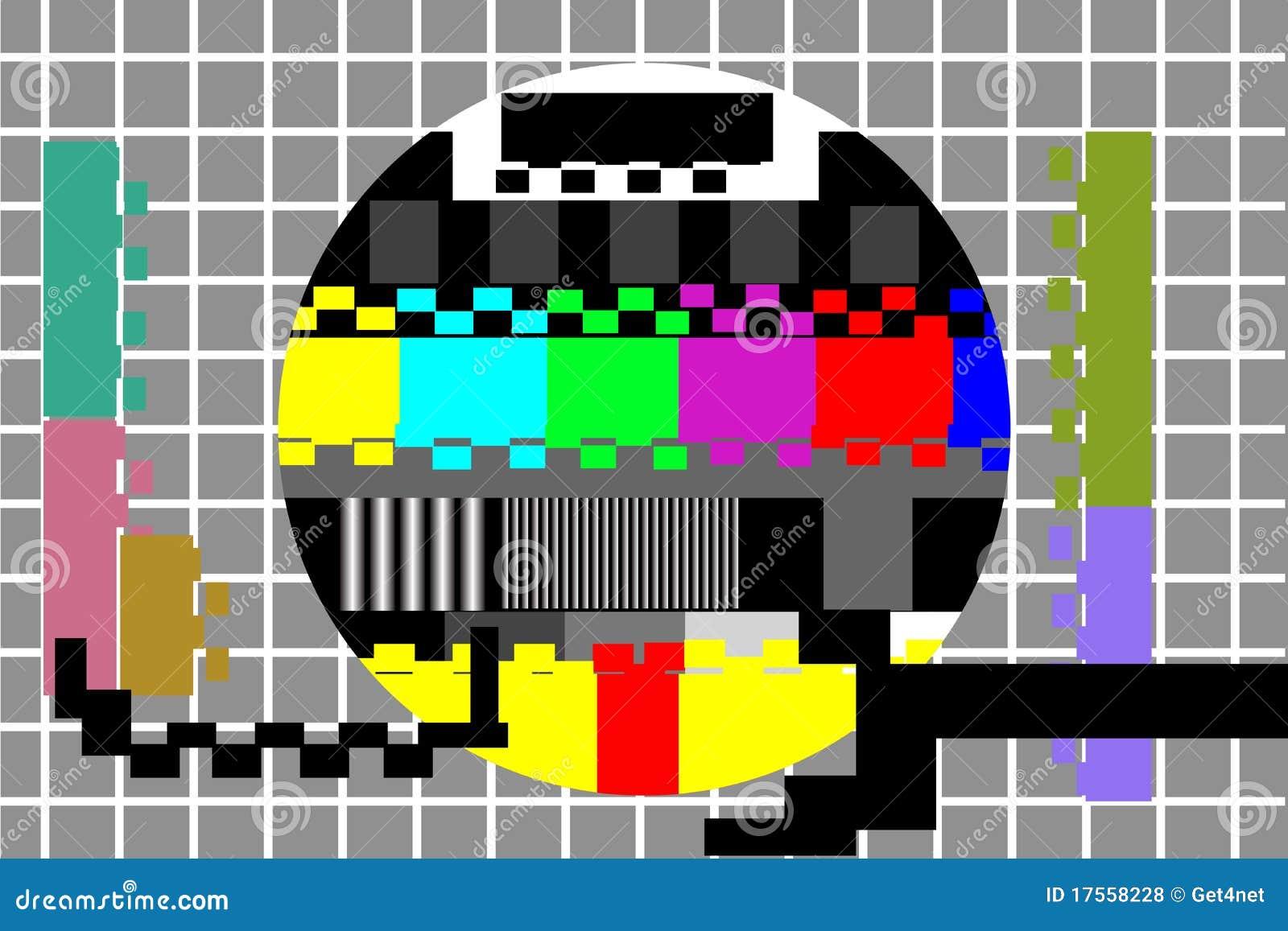 het patroon van de de kleurentest van de televisie vector illustratie afbeelding 17558228. Black Bedroom Furniture Sets. Home Design Ideas