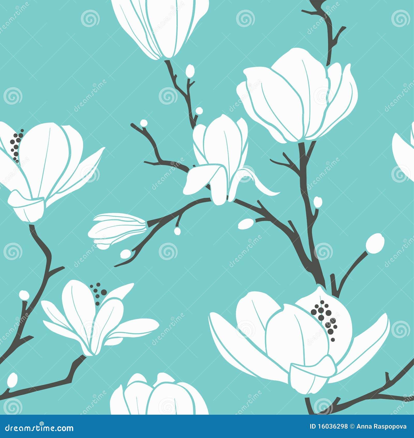 Het patroon van de magnolia