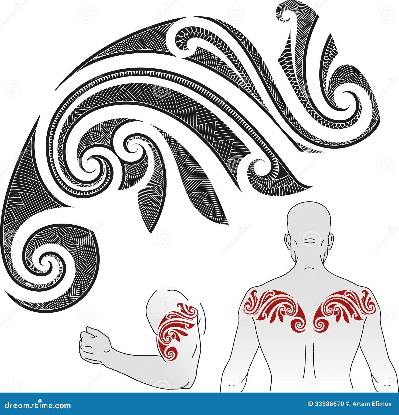 Het patroon van de Maoritatoegering - Kameleon