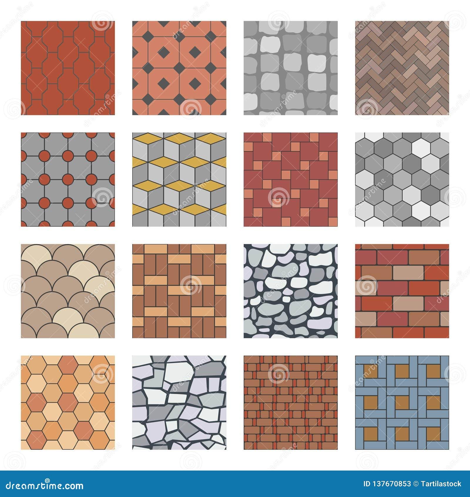 Het patroon van de straatsteen De gang van de baksteenbetonmolen, de plak van rotsstenen en de vloer van de straatbestrating blok
