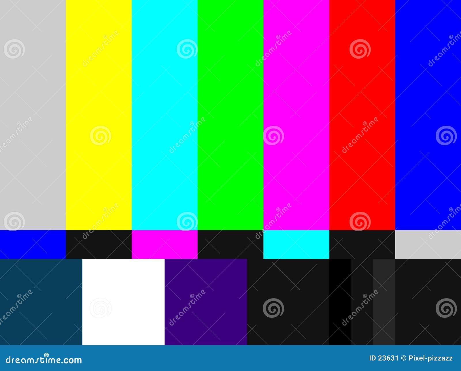Het Patroon van de Test van TV
