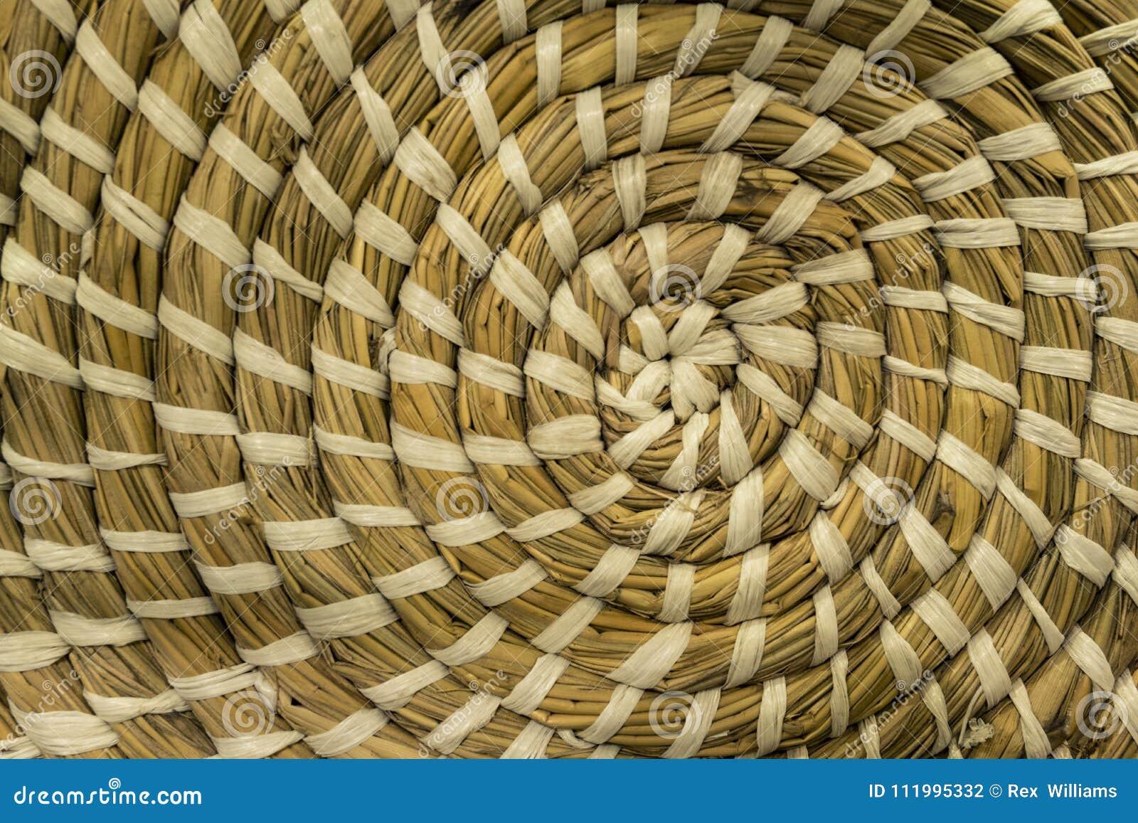 Het patroon van de het weefselcirkel van de textuurmand