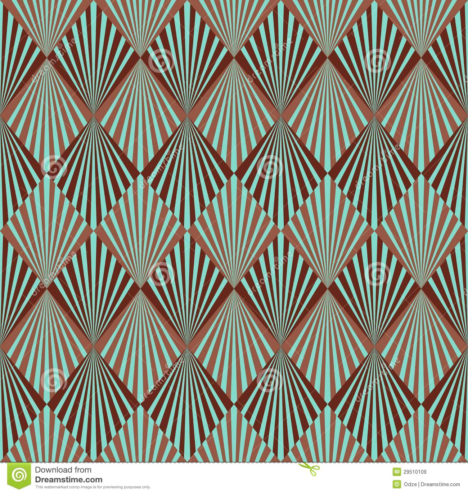 Het patroon van het art deco