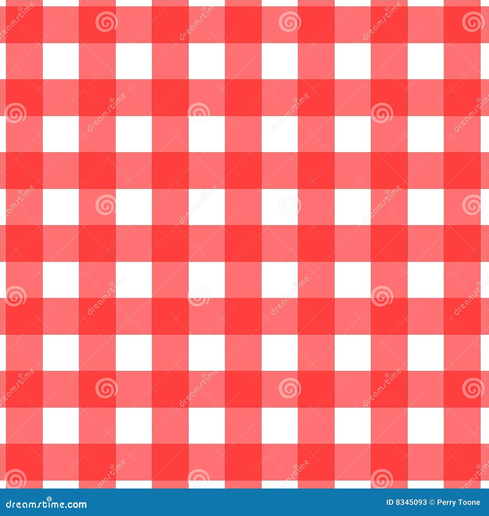 Het Patroon Van Het Tafelkleed Van De Picknick Vector