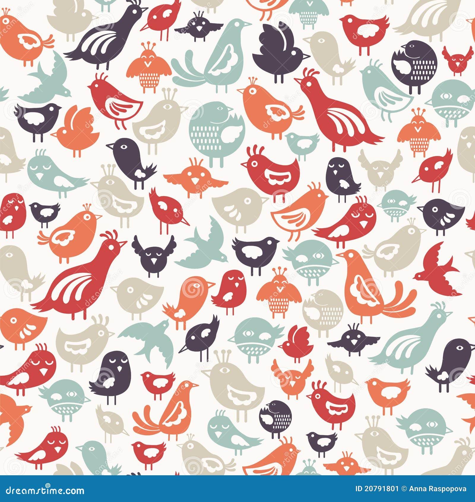 Het patroon van vogels