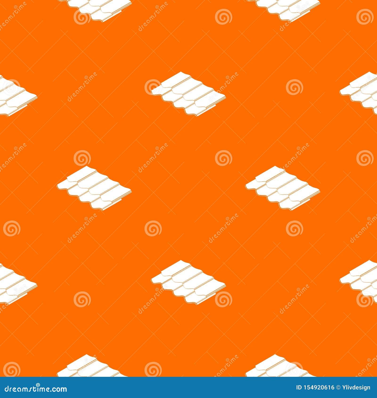 Het patroon vectorsinaasappel van de metaaltegel