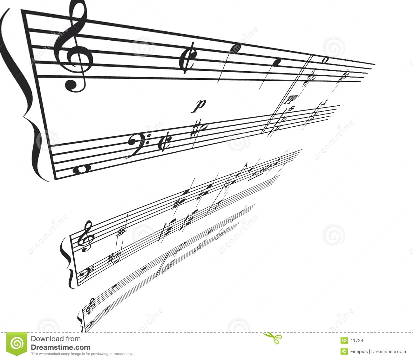 Het Perspectief van de Hoek van de muziek