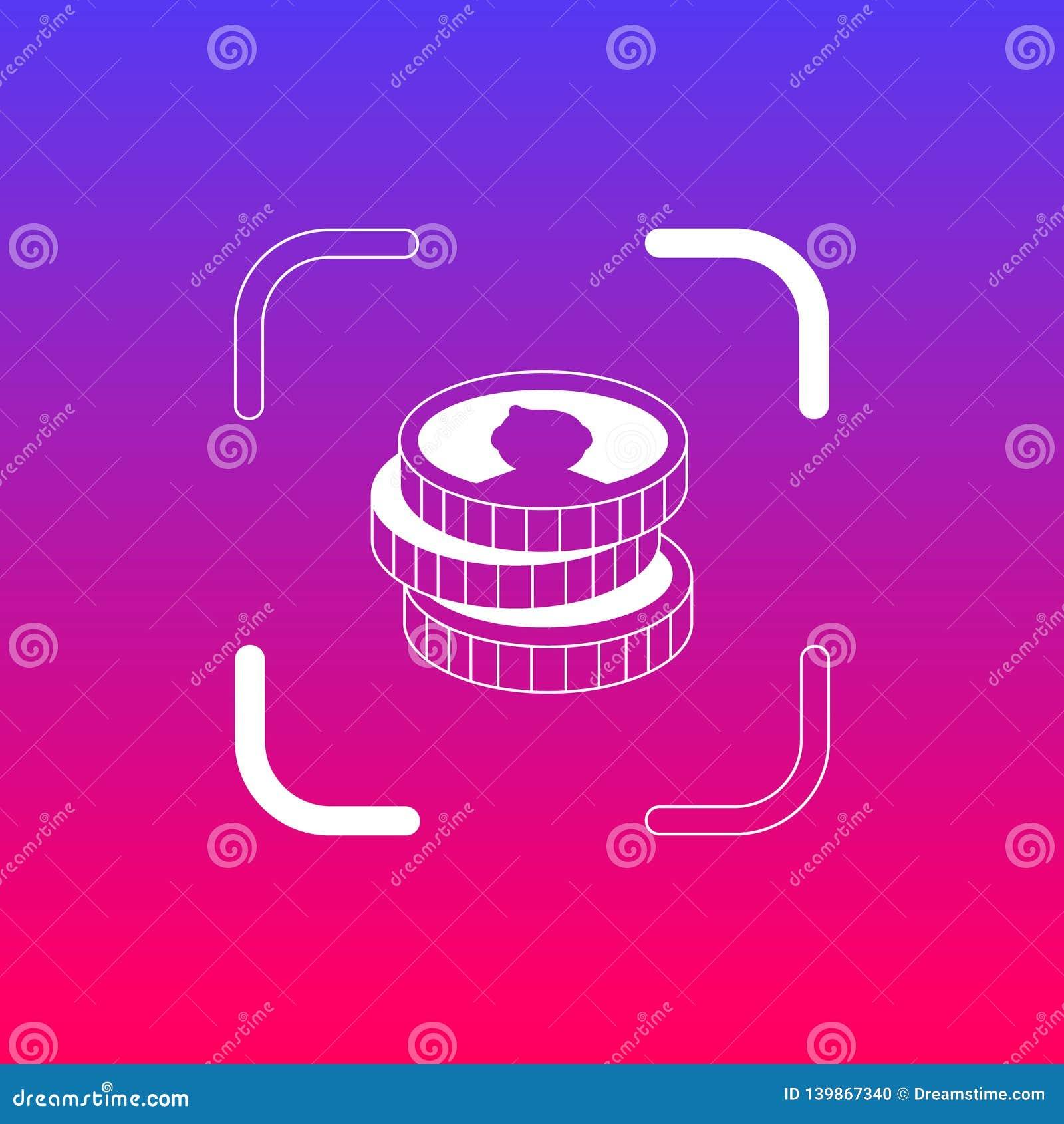 Het pictogram/het embleem van geldmuntstukken Kunstillustratie