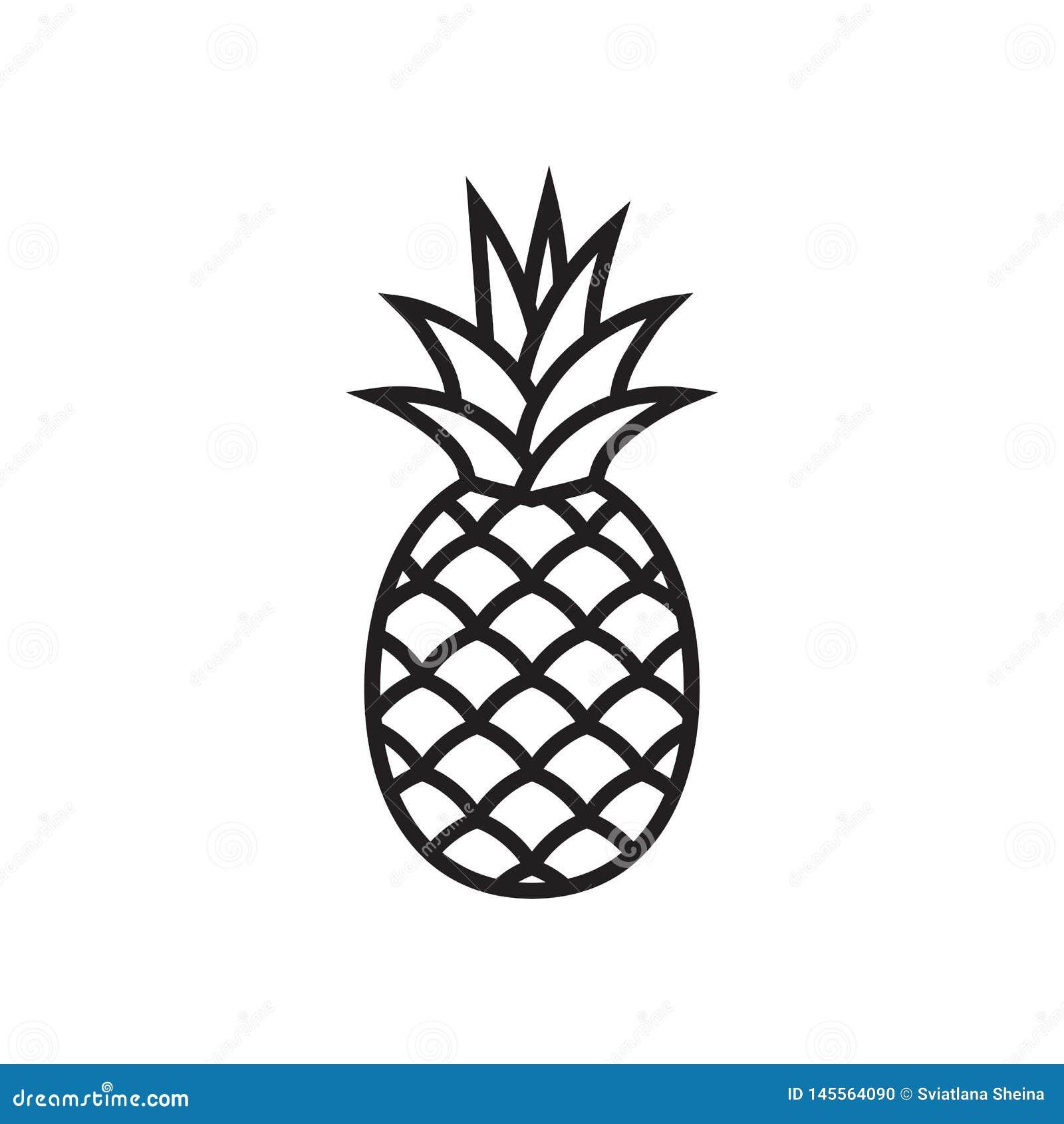 Het pictogram van het ananassymbool