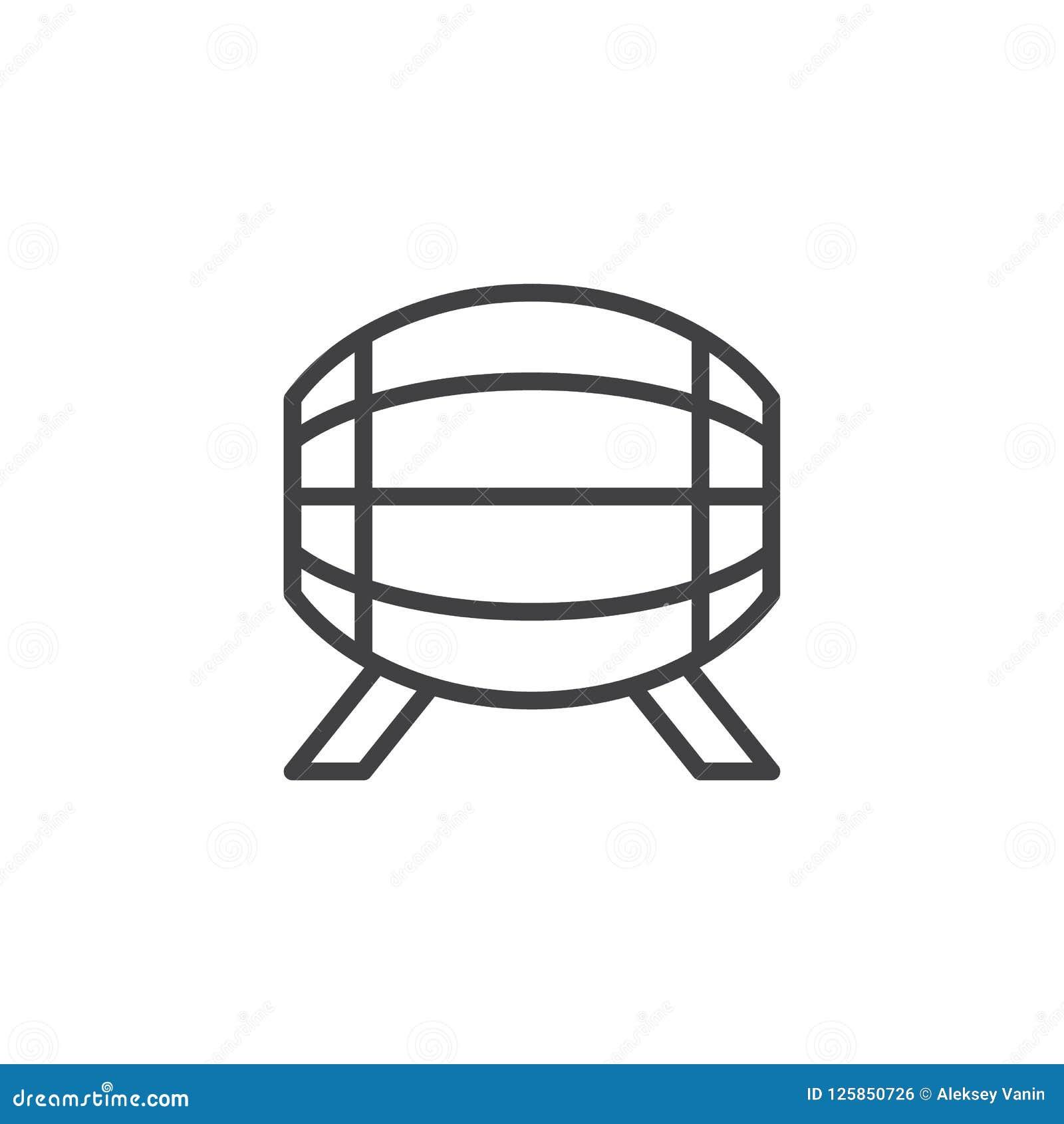 Het pictogram van het biervatoverzicht