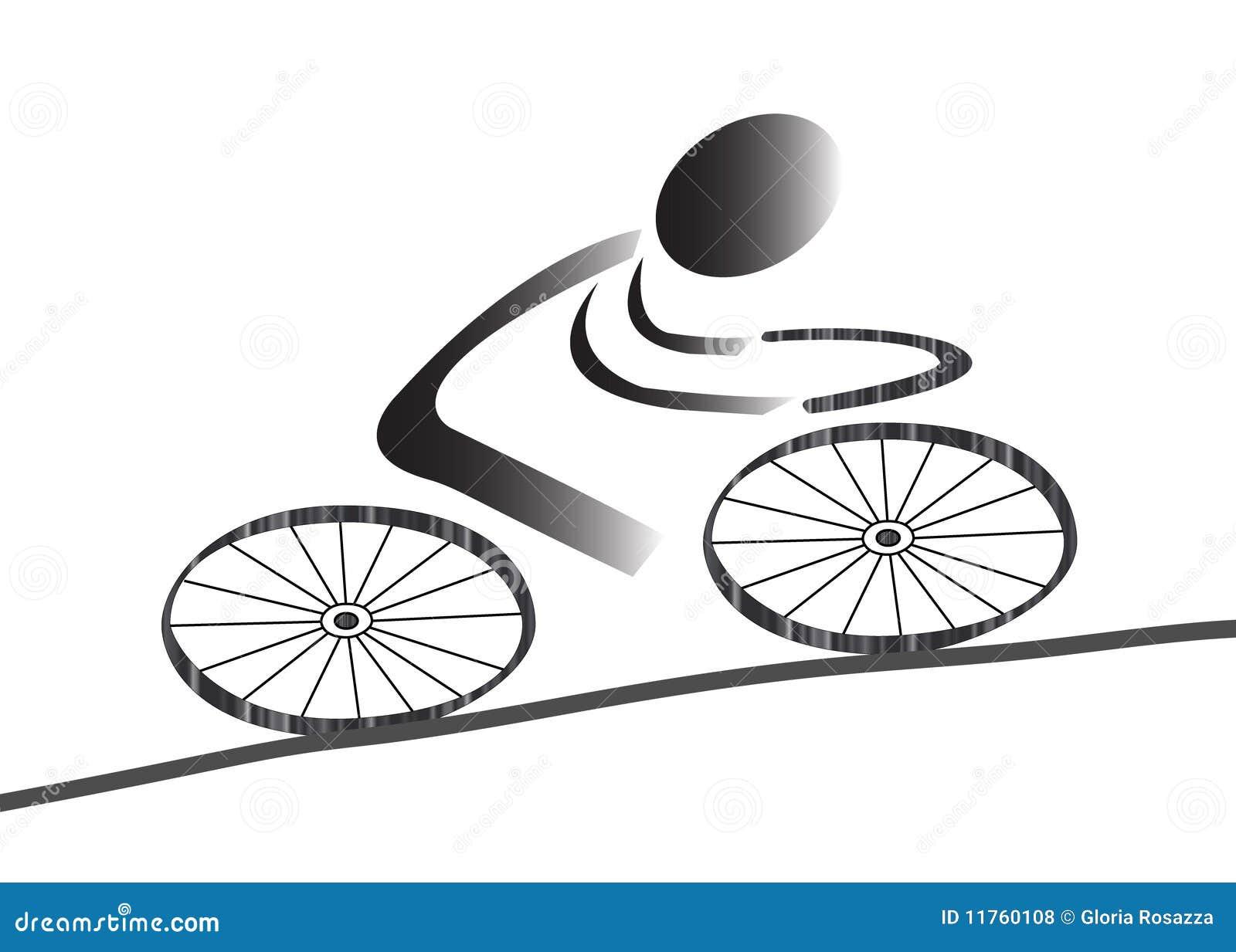 Het pictogram van Biking