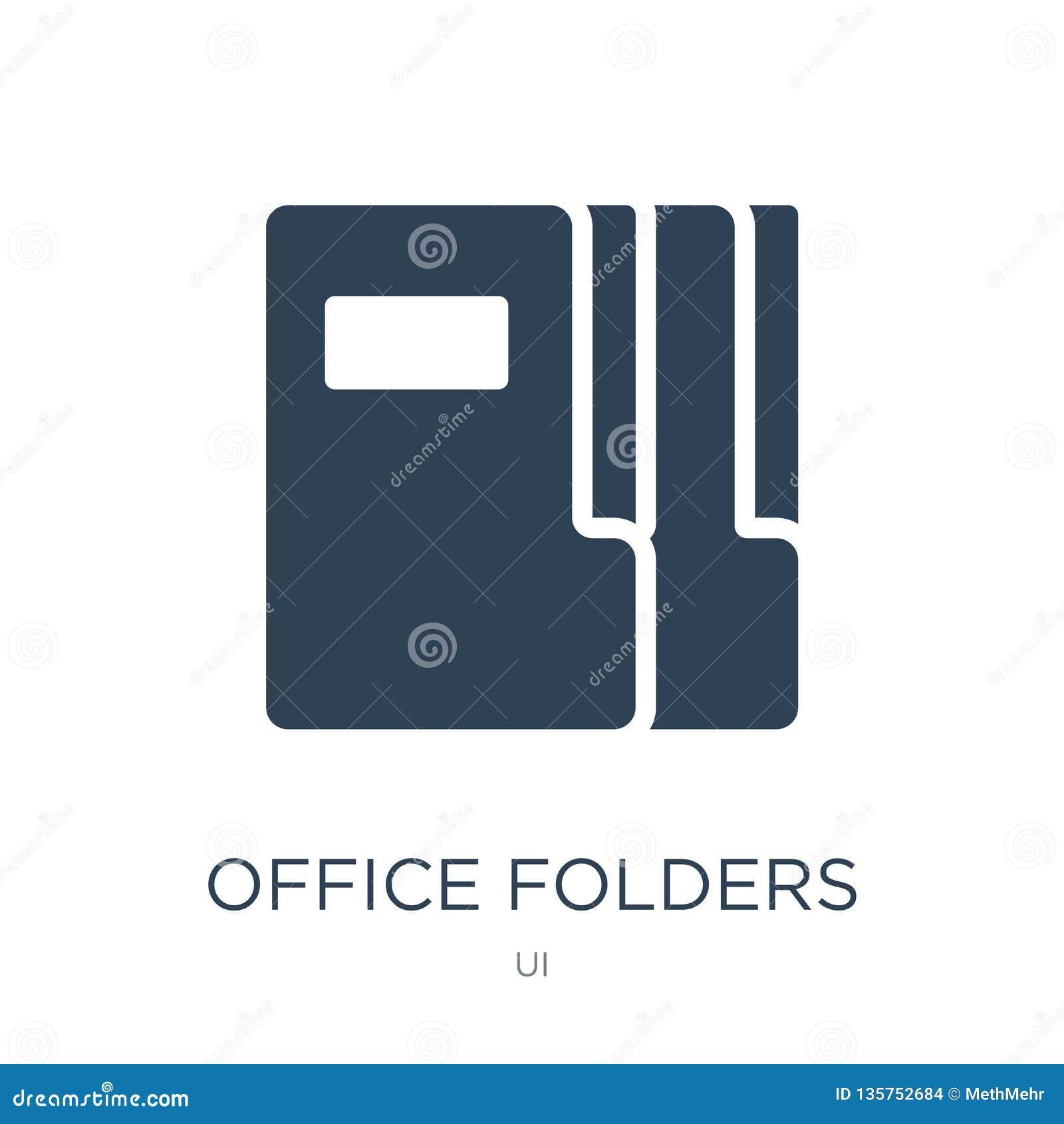 Het pictogram van bureauomslagen in in ontwerpstijl het pictogram van bureauomslagen op witte achtergrond wordt geïsoleerd die he