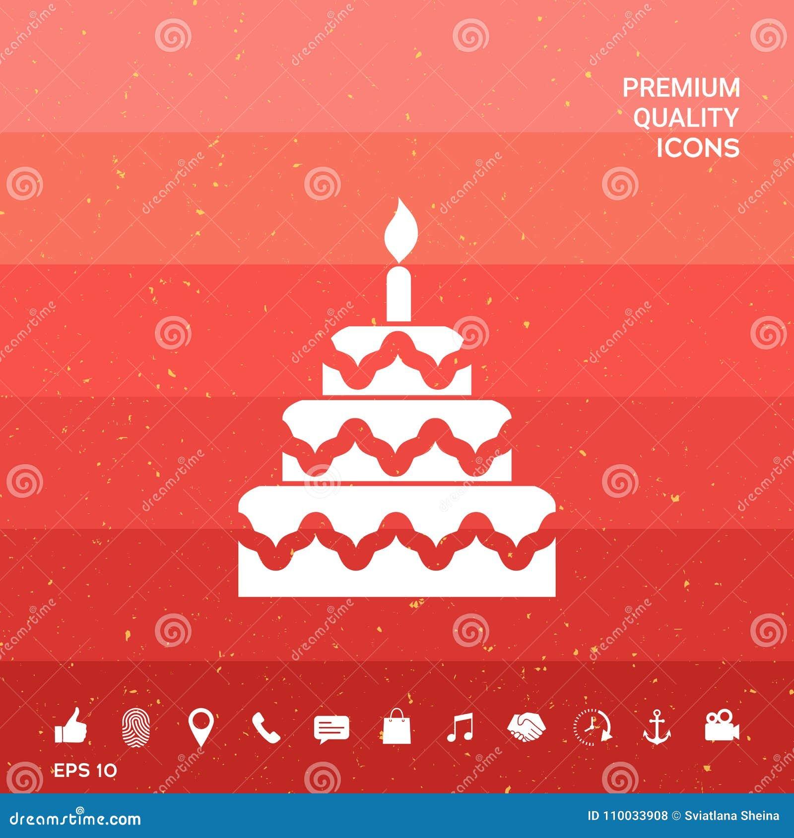 Het pictogram van het cakesymbool