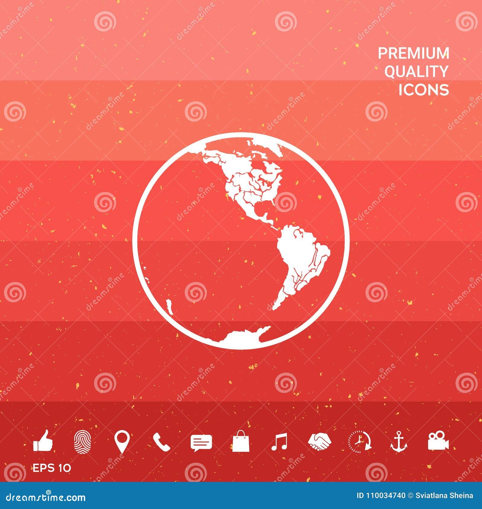 Het pictogram van de aarde embleem