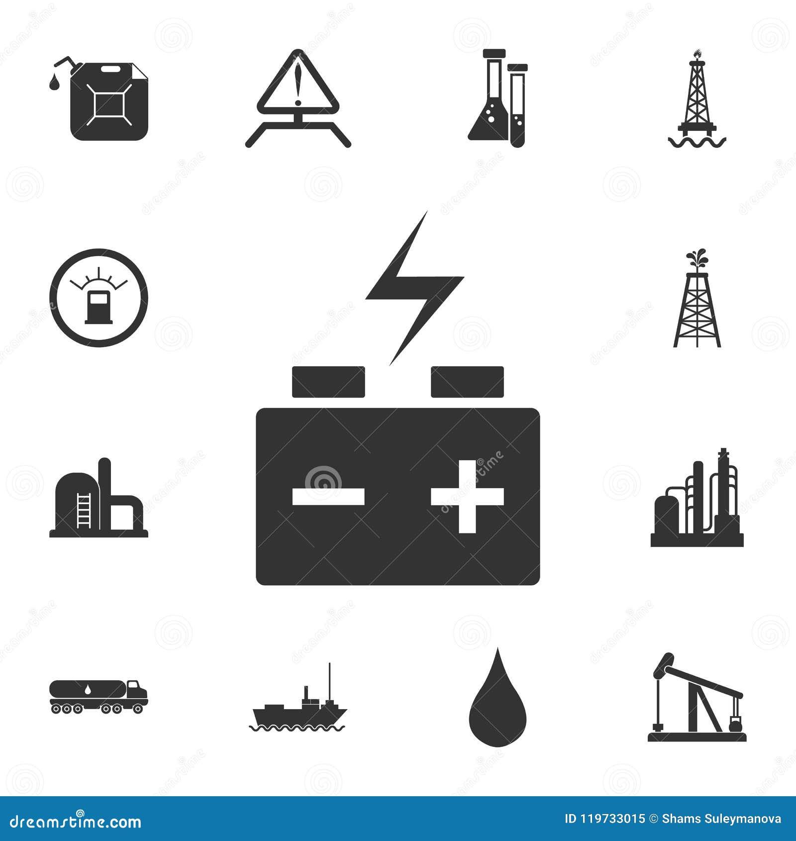 Het pictogram van de autobatterij Eenvoudige elementenillustratie Het symboolontwerp van de autobatterij van de reeks van de Benz