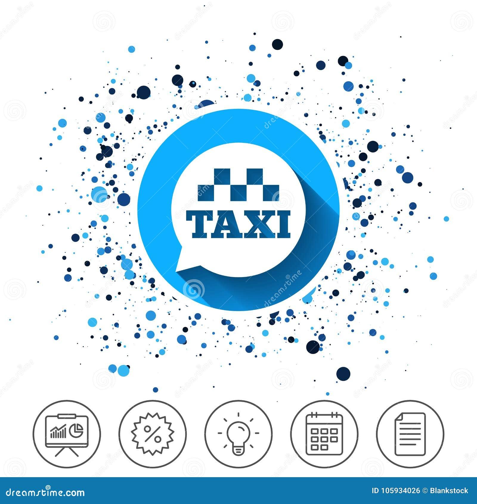 Het pictogram van het de bellenteken van de taxitoespraak Openbaar vervoer