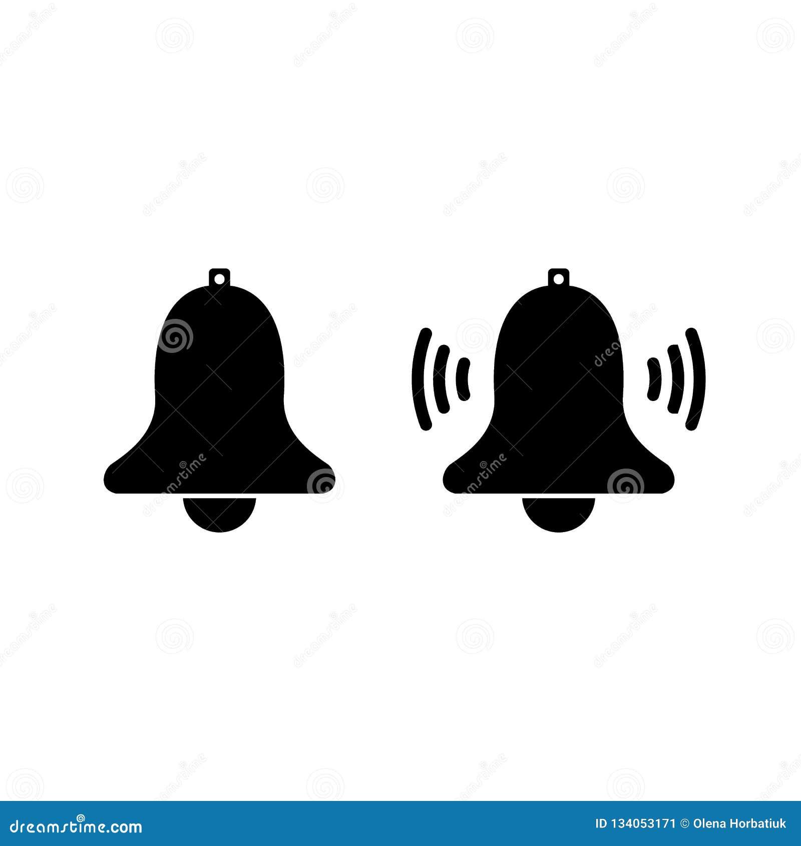 Het pictogram van de berichtklok voor inkomend inboxbericht Vector bellend klok en berichtaantalteken voor wekker en smartphone