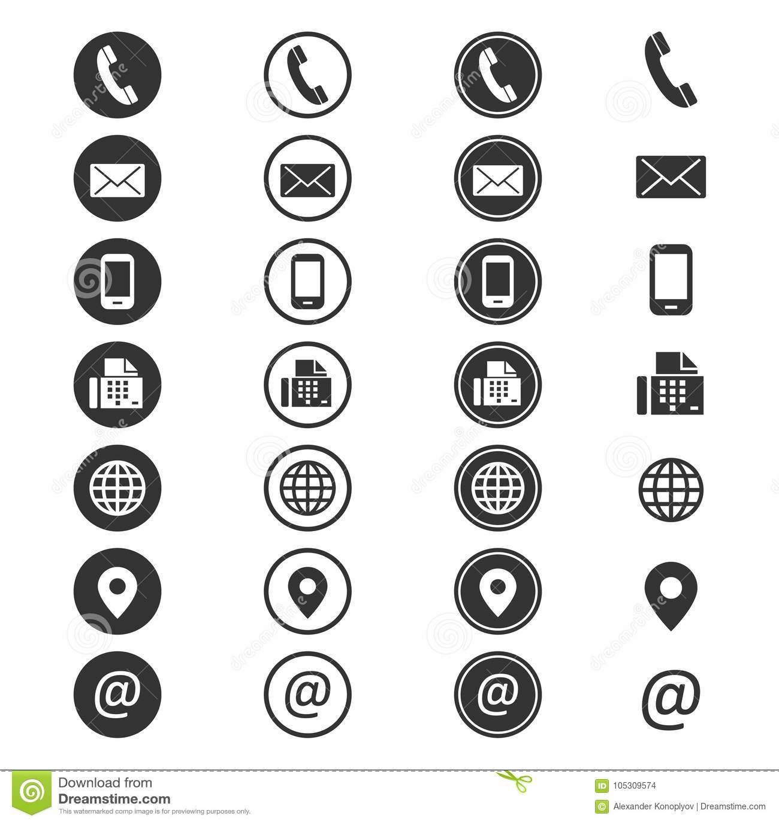 Het pictogram van de contactinformatie