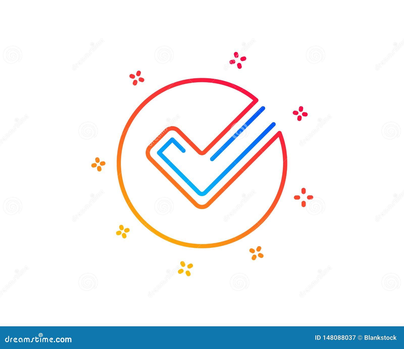 Het pictogram van de controlelijn Goedgekeurd Tikteken Vector