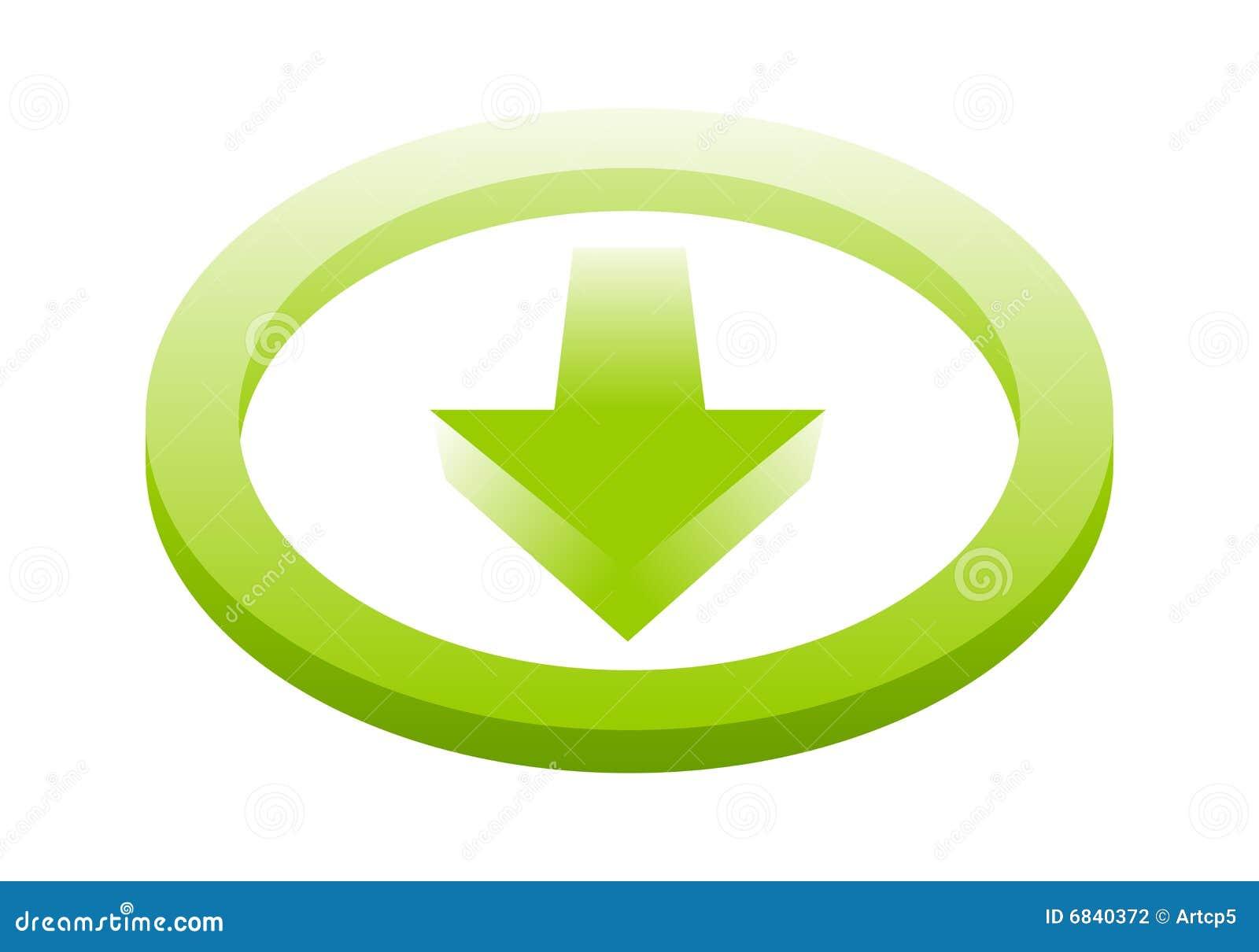 Het pictogram van de download