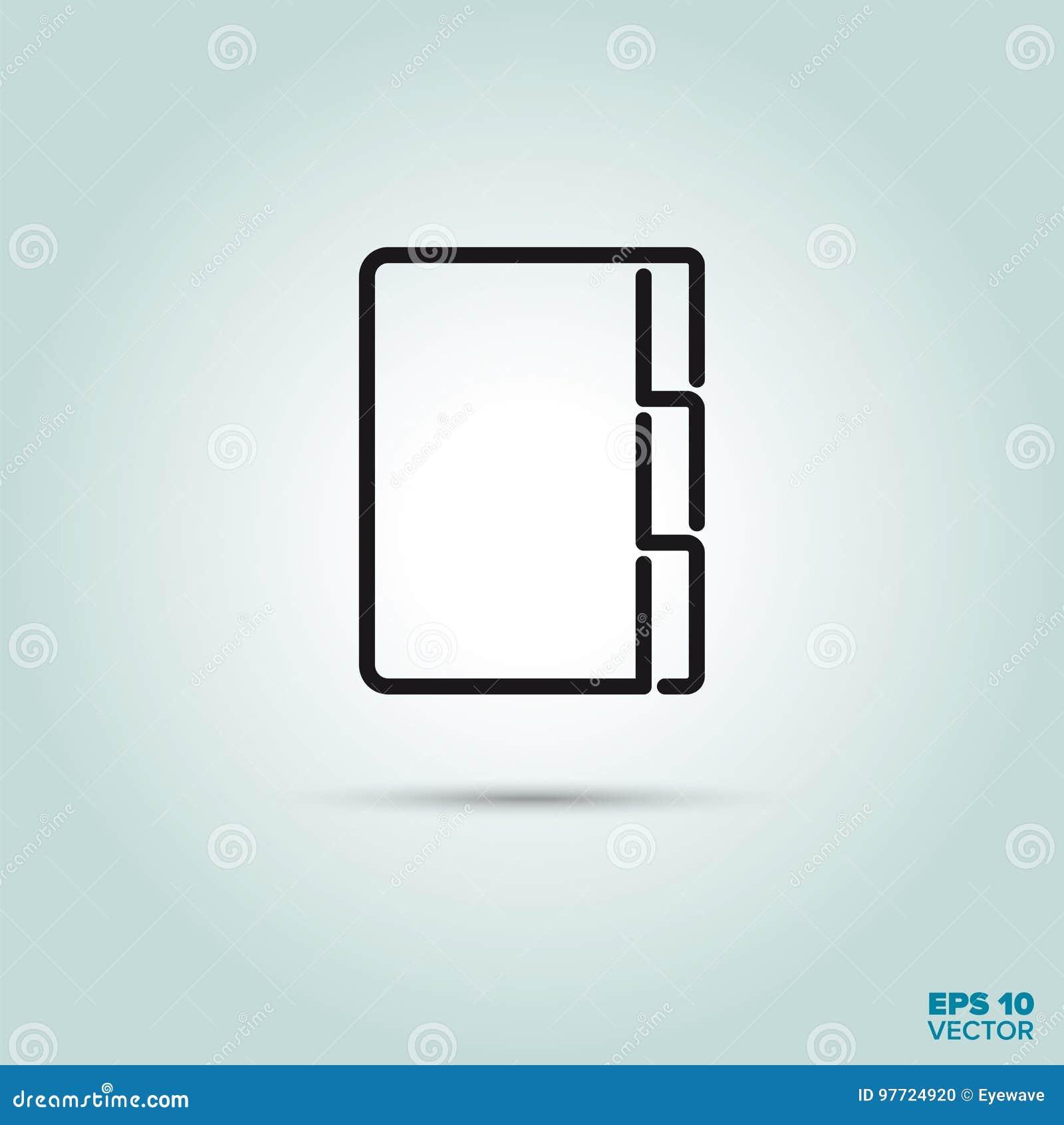 Het pictogram van de folderlijn