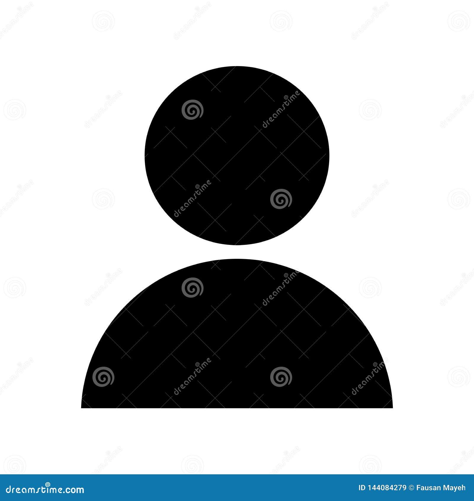 Het pictogram van de gebruikersmens