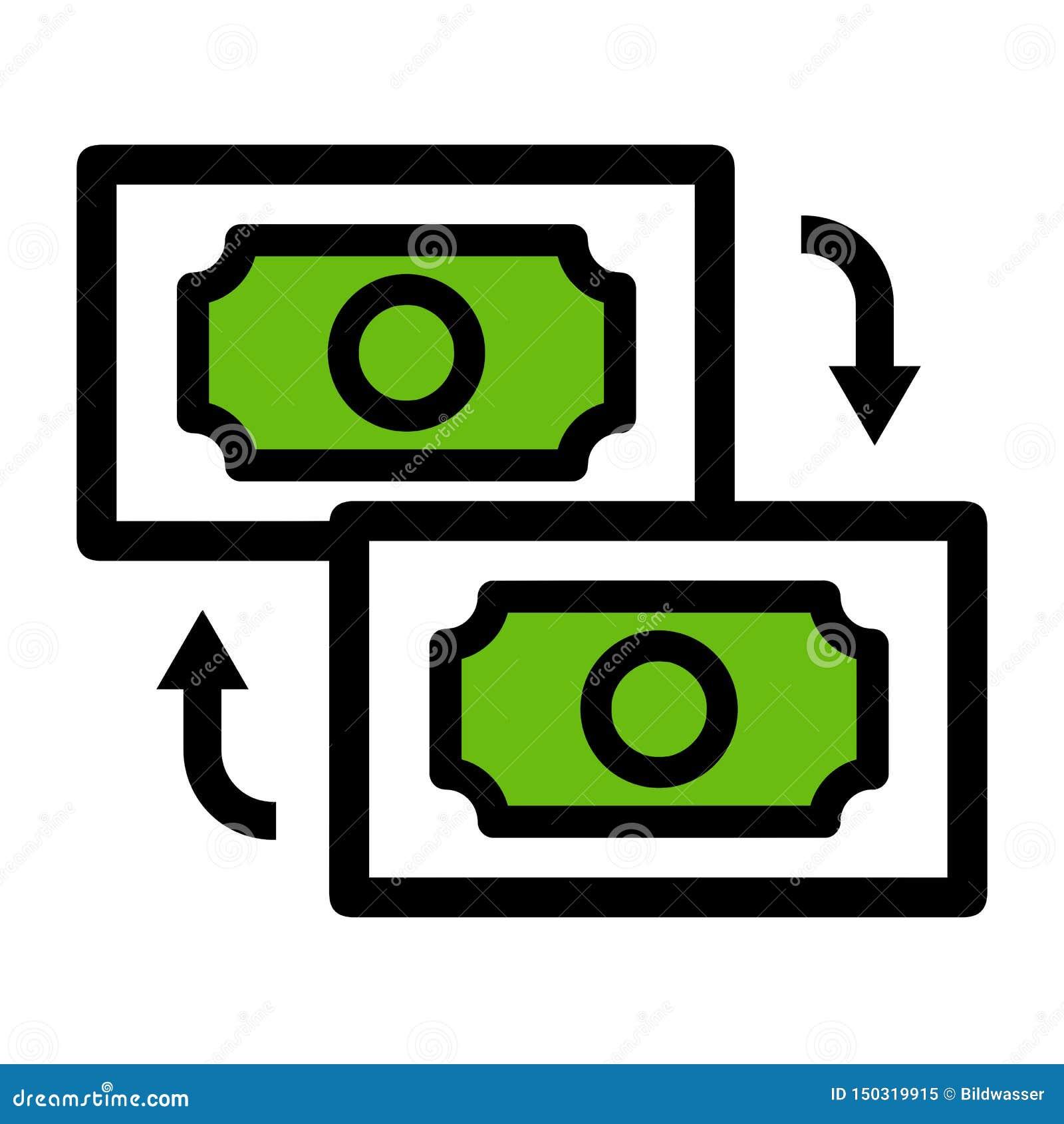 Het pictogram van de geldoverdracht Eps10 Vector