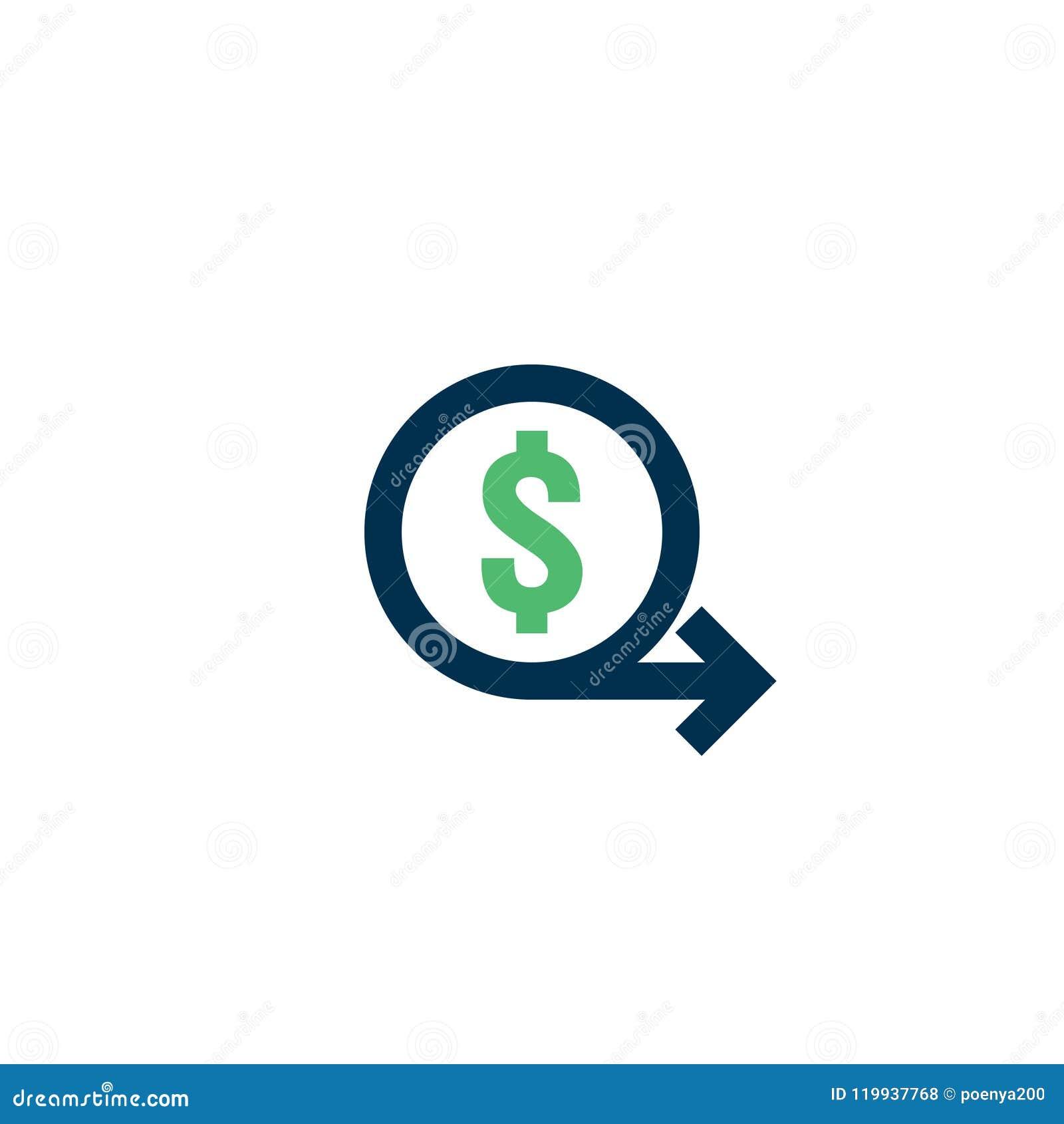 Het pictogram van de geldoverdracht Het teken van de Chargebackcontour het snelle achtersymbool van het fondsencontante geld De m