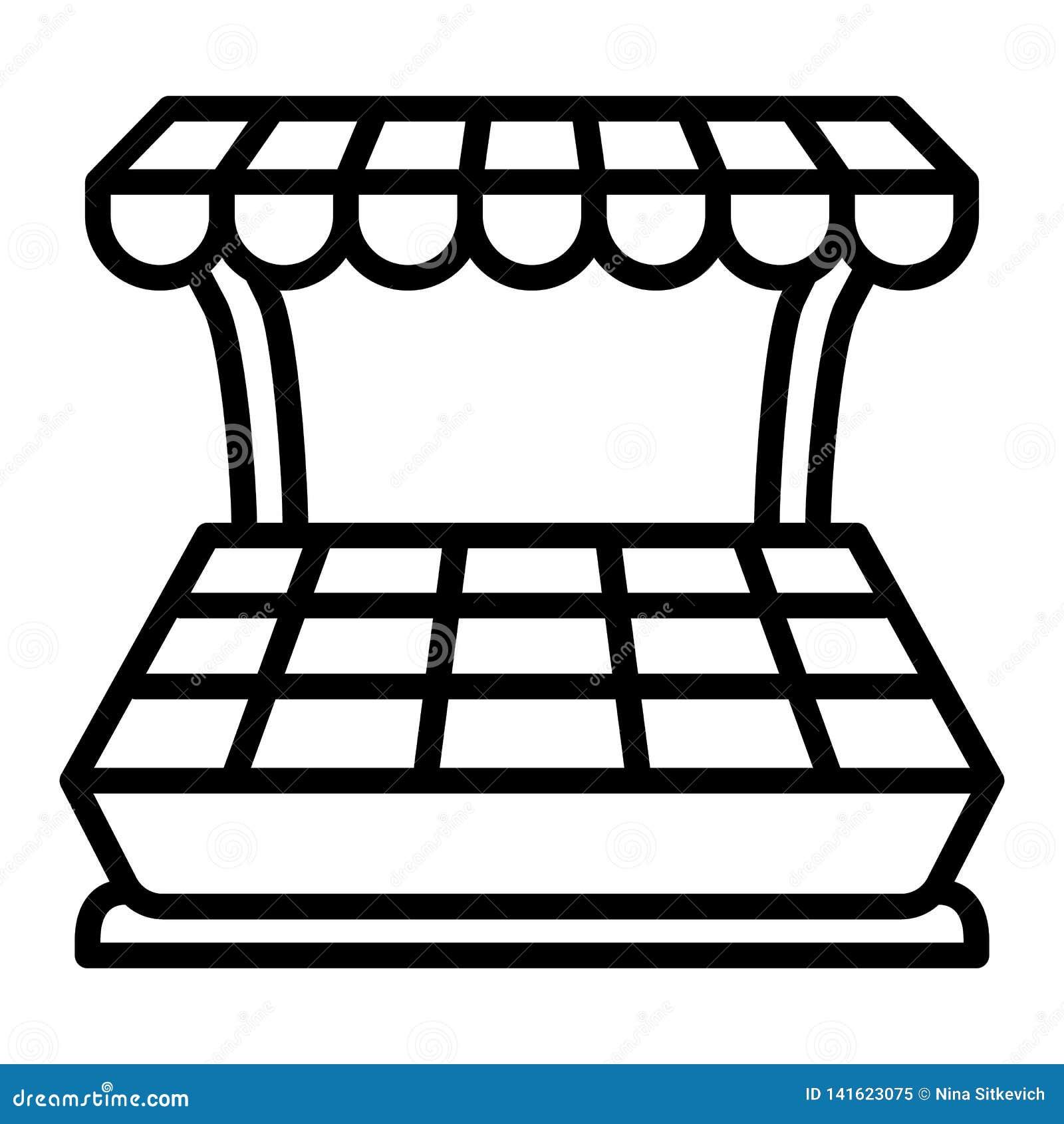 Het pictogram van de groentenkiosk, overzichtsstijl