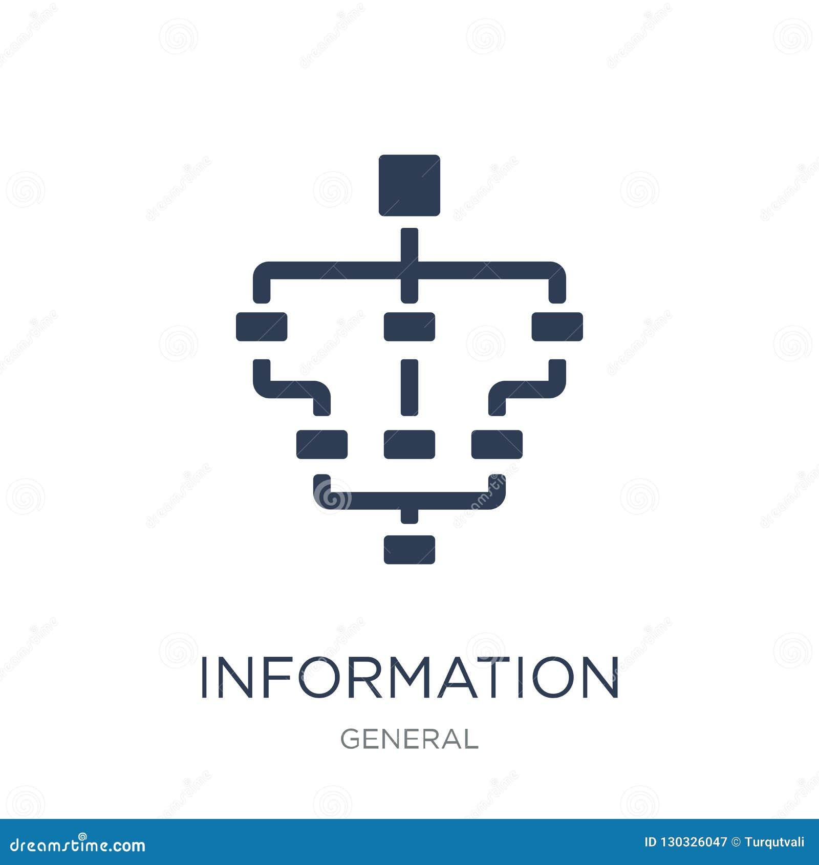 Het pictogram van de informatiearchitectuur In vlakke vectorinformatie AR