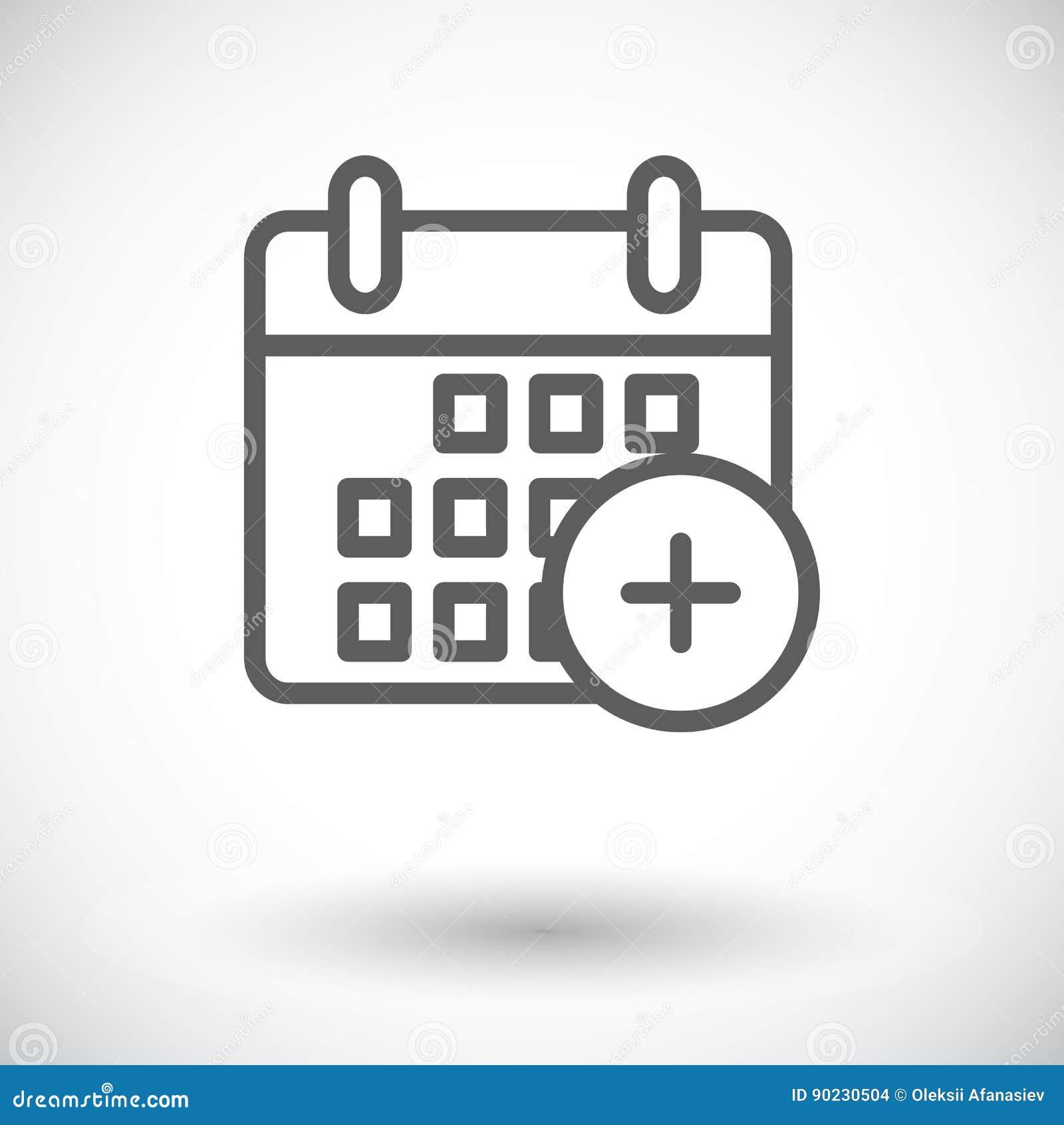 Het pictogram van de kalenderslag