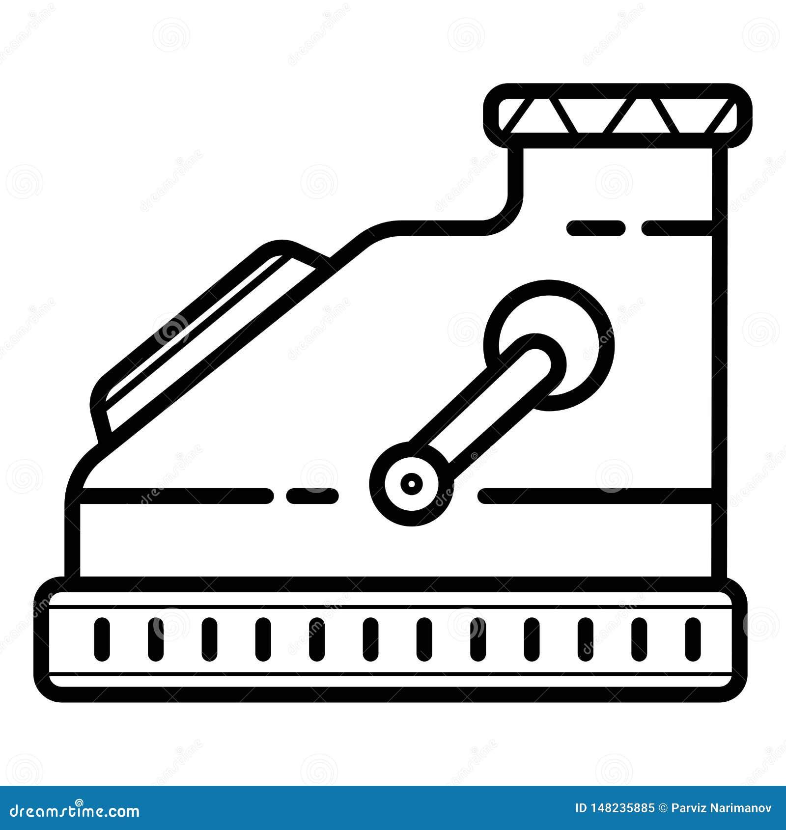 Het pictogram van de kassamachine