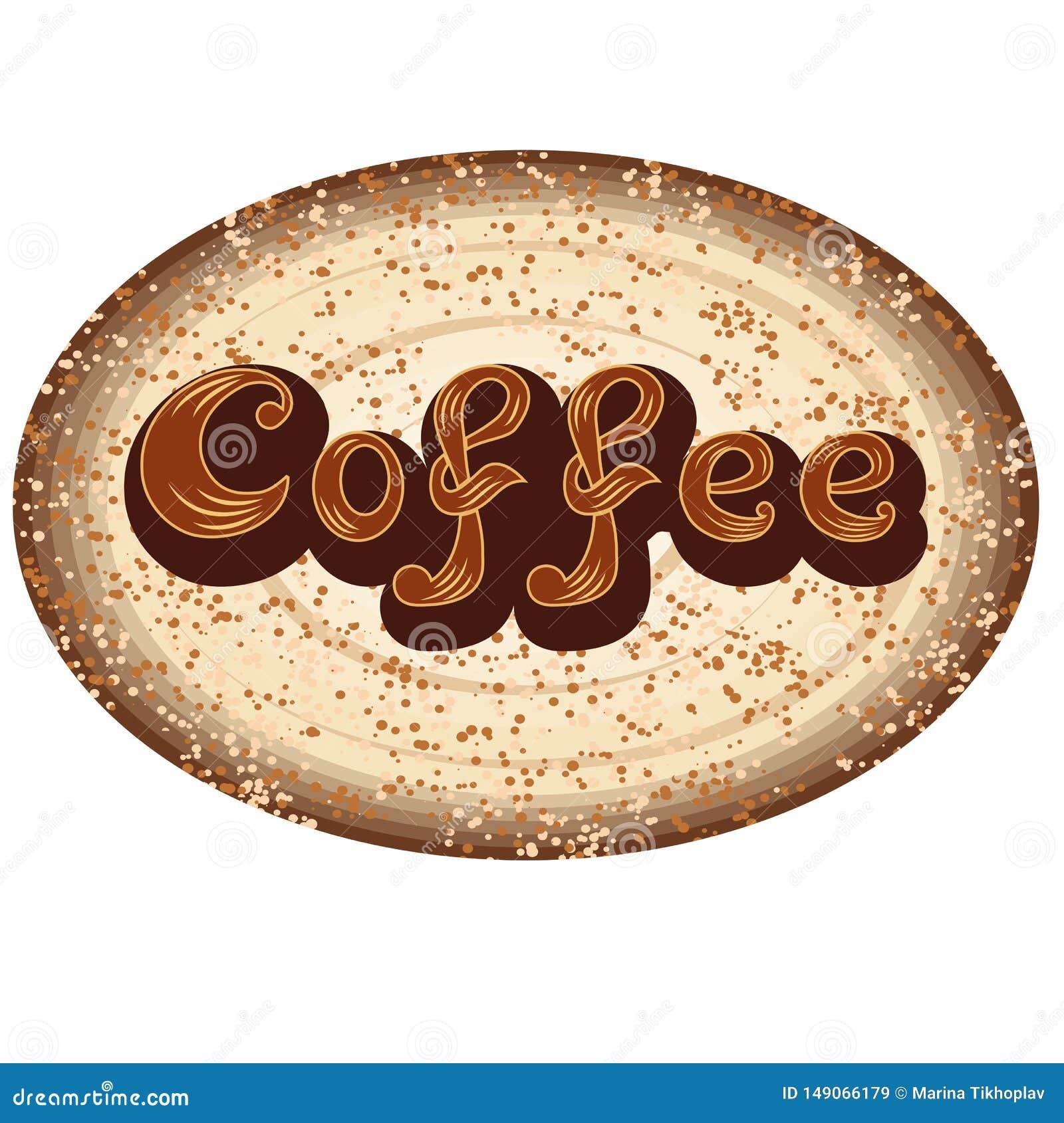 Het pictogram van de koffie Voor cafetaria of koffiemenuembleem