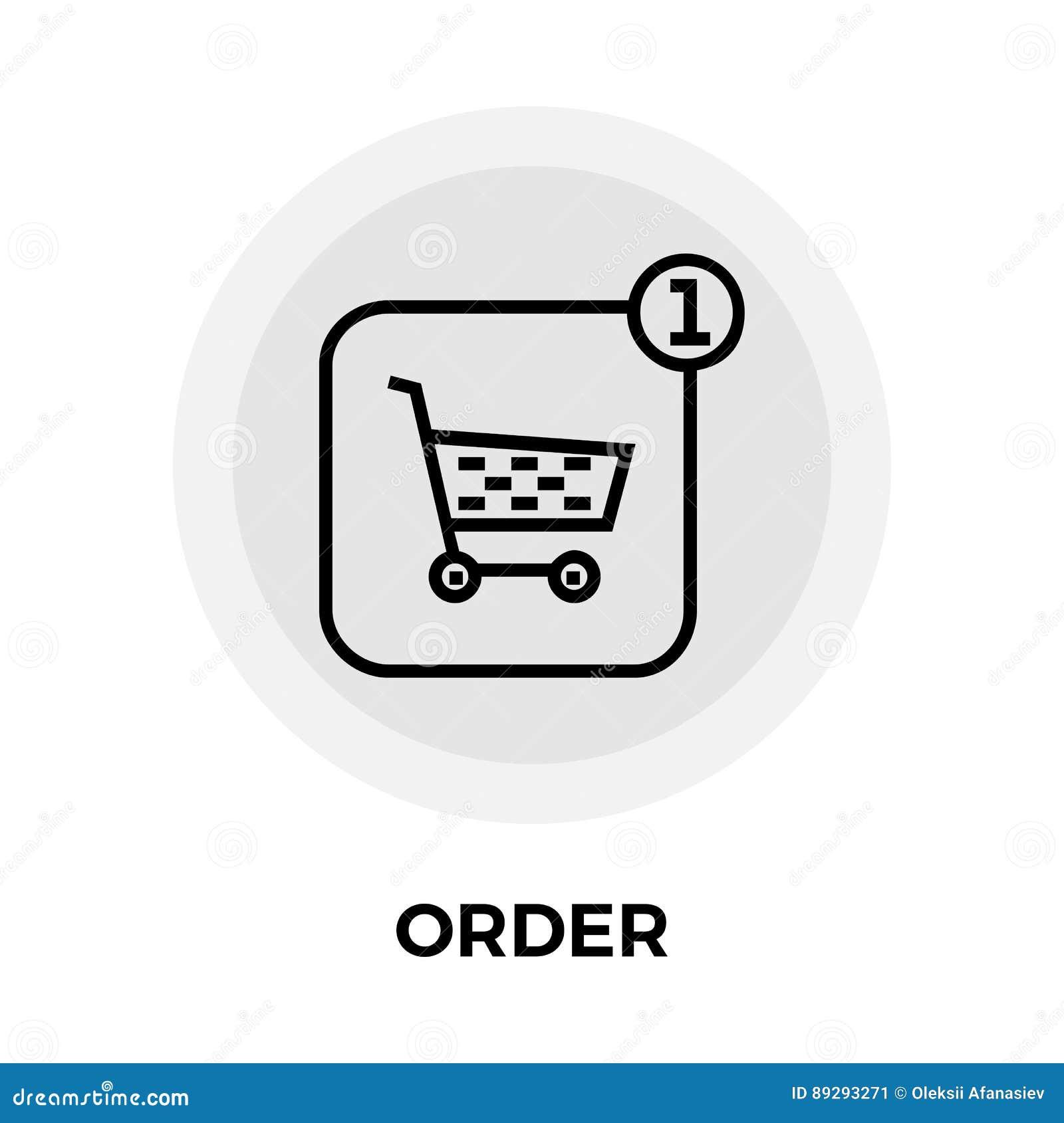 Het Pictogram van de ordelijn