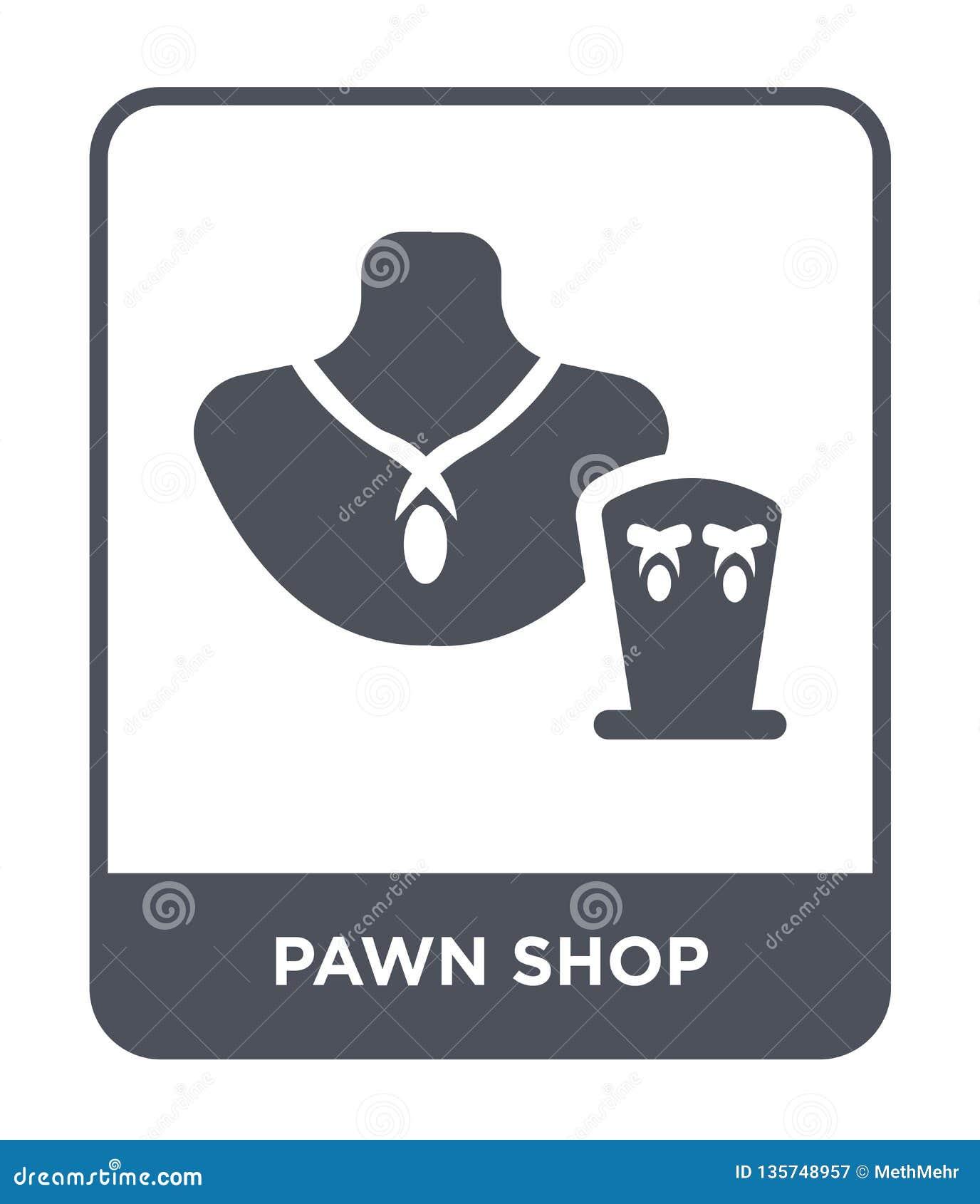 Het pictogram van de pandwinkel in in ontwerpstijl het pictogram van de pandwinkel op witte achtergrond wordt geïsoleerd die vect