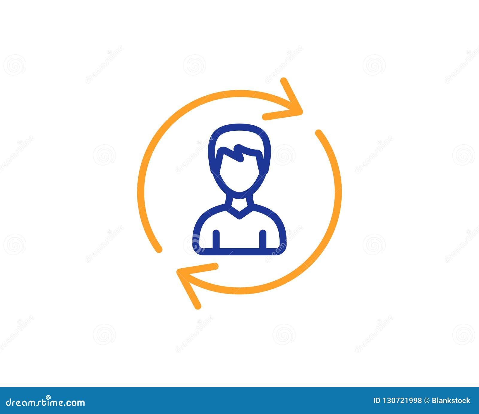Het pictogram van de personeelslijn Het teken van het gebruikersprofiel Vector