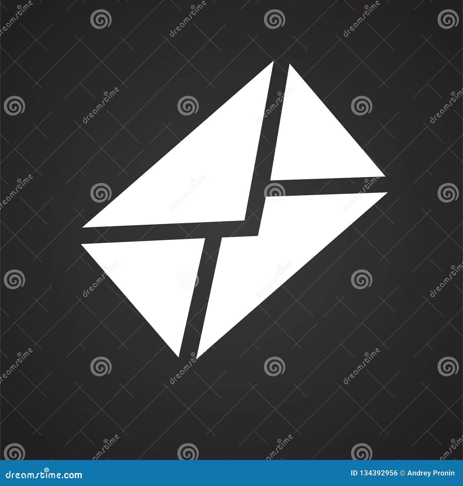 Het pictogram van de postenvelop op zwarte achtergrond voor grafisch en Webontwerp, Modern eenvoudig vectorteken Het concept van